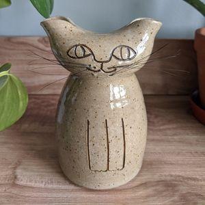 Studio Art Pottery Cat Piggy Bank